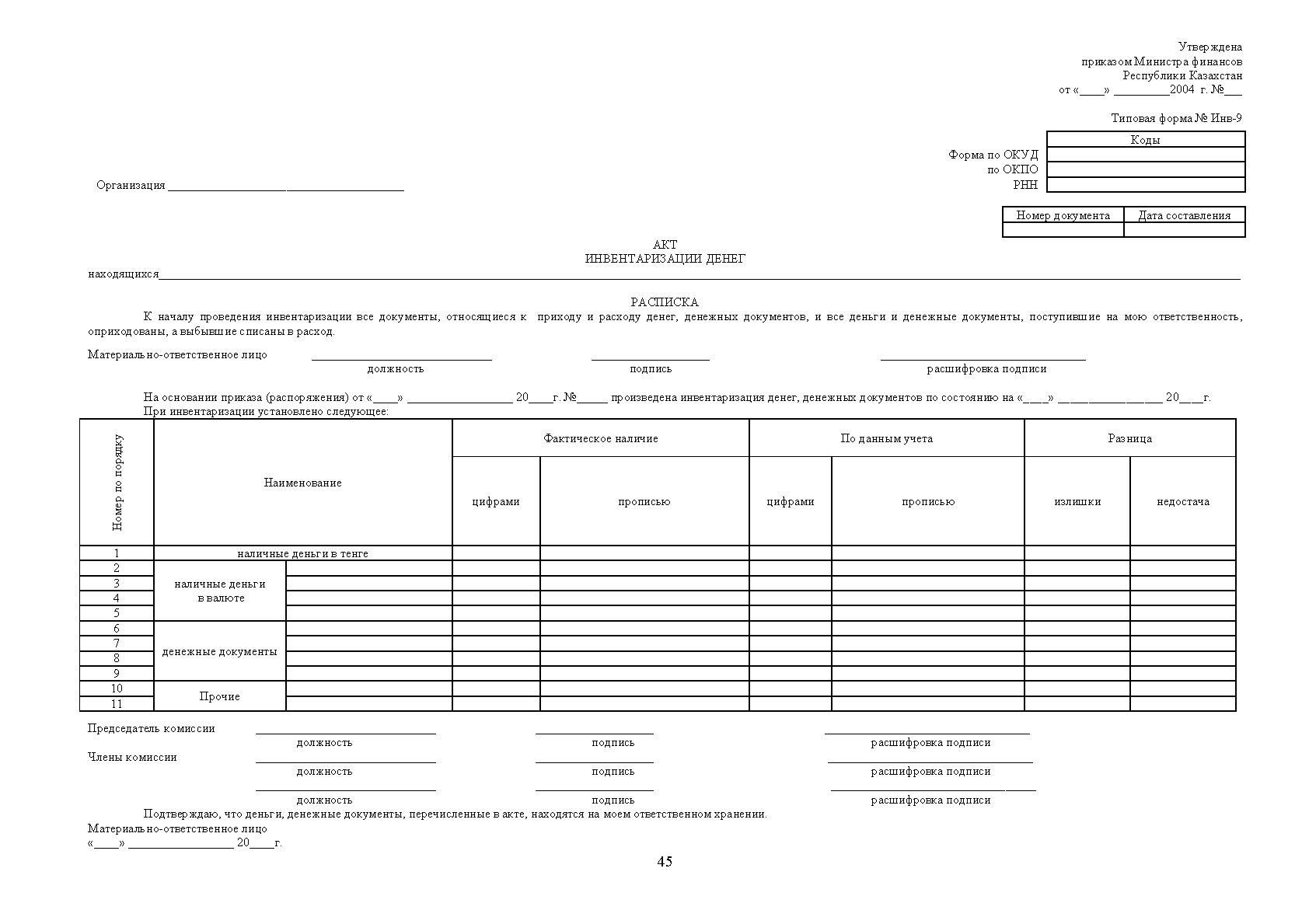 бланки первичных документов бух учета