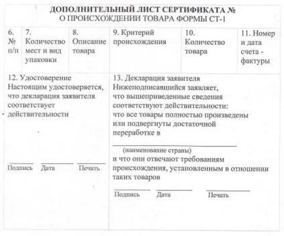 О Сертификатах Происхождения Товара Формы А Бланк